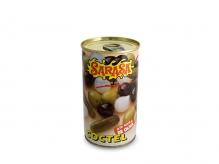 Cóctel de aceitunas y encurtidos en aceite de oliva