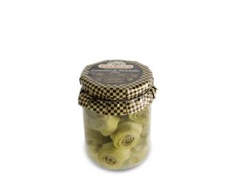 Corazones de alcachofa enteros extra. 14/22 frutos.